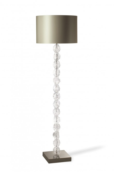 Rock Floor Lamp | Perspex with Nickel base