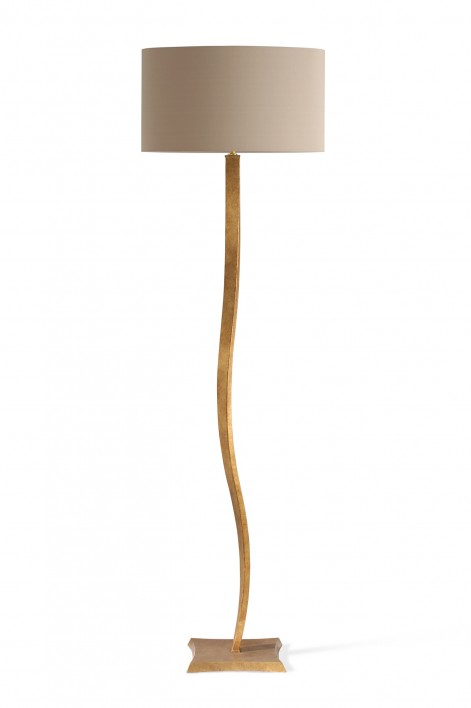 Ribbon Floor Lamp | Burnished Gold