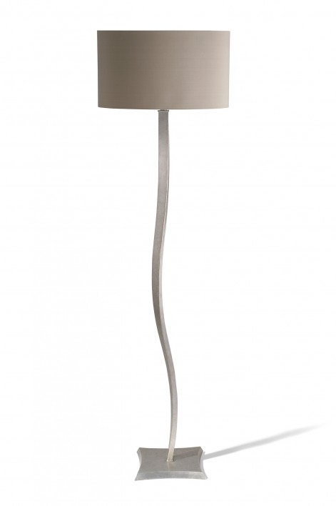 Ribbon Floor Lamp | Burnished Silver