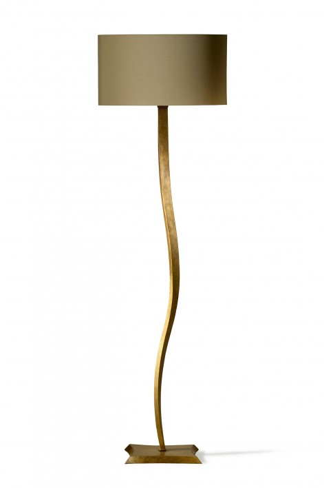Ribbon Floor Lamp | French Brass