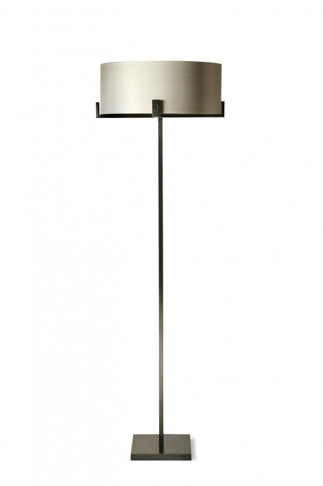 Cross Braced Floor Lamp | Bronze