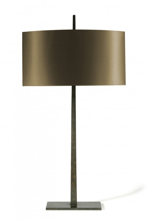 Large Tapering Harral Lamp   Bronzed