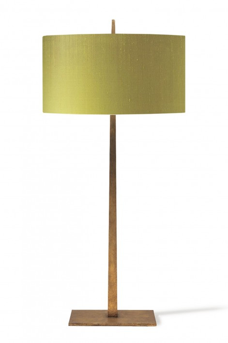 Large Tapering Harral Lamp | French Brass
