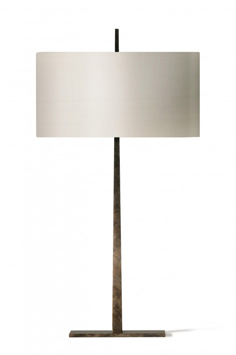 Small Tapering Harral Lamp | Burnt Silver