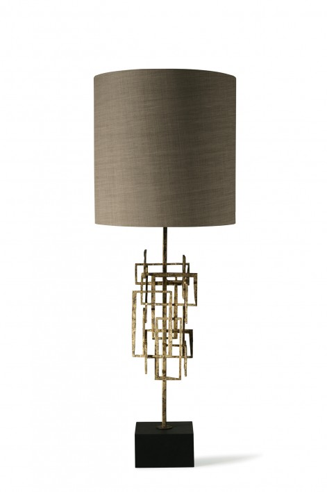 Kinetic Lamp | Gurney Gold with Slate base