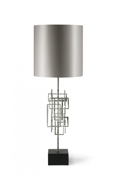 Kinetic Lamp | Gurney Silver with Slate base