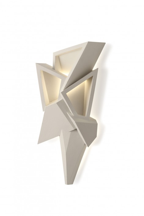 Geode Wall Sconce | Plaster White