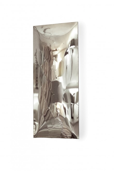 Large Waterfall Wall Light | Light Polished Steel