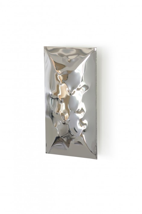 Small Waterfall Wall Light | Polished Steel