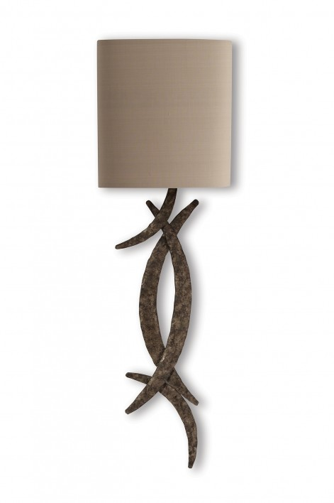 Miro Wall Light | Burnt Silver