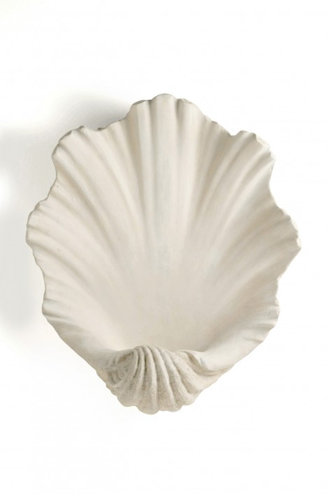 Scallop Shell Bathroom Wall Light | Antiqued Plaster