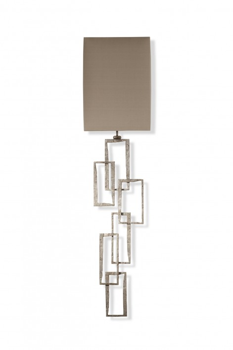 Large Salperton Wall Light | Decayed Silver