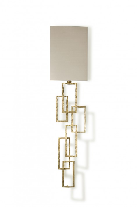 Large Salperton Wall Light | White Gold