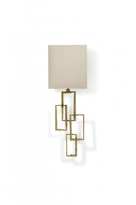 Small Salperton Wall Light | White Gold