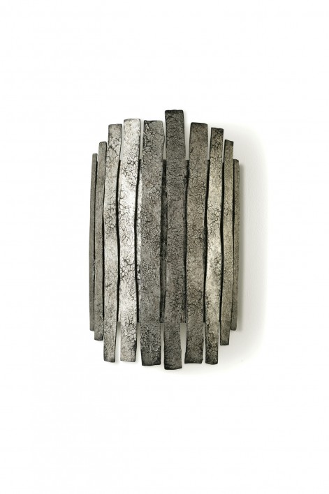Metal Strip Bathroom Wall Light | Mayan Silver