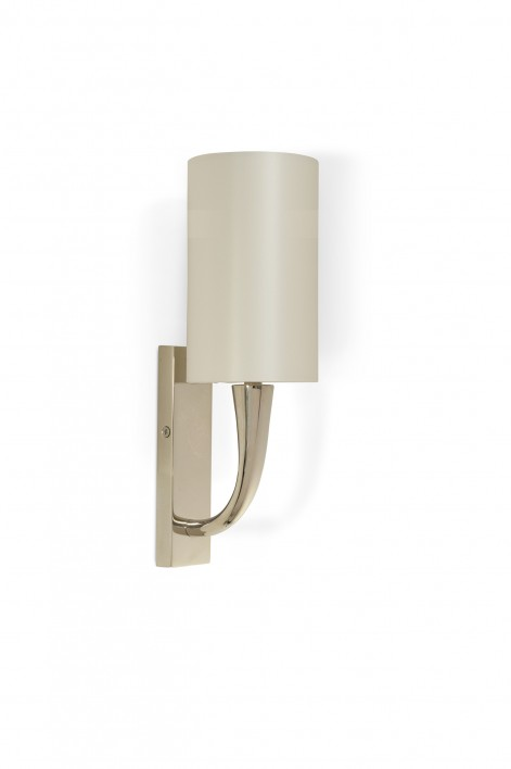 Trumpet Bathroom Wall Light | Nickel