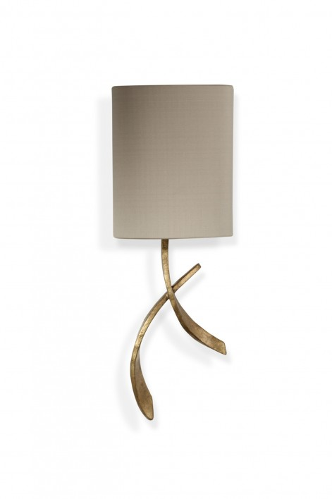 Sabre Bathroom Wall Light | French Brass