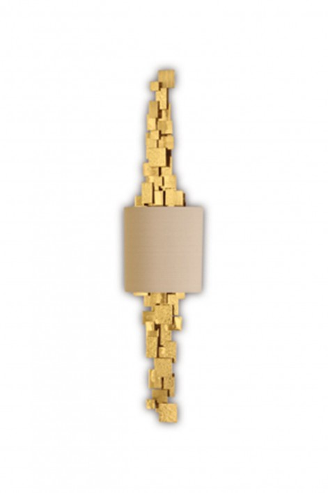 Luca Bathroom Wall Light | Brass