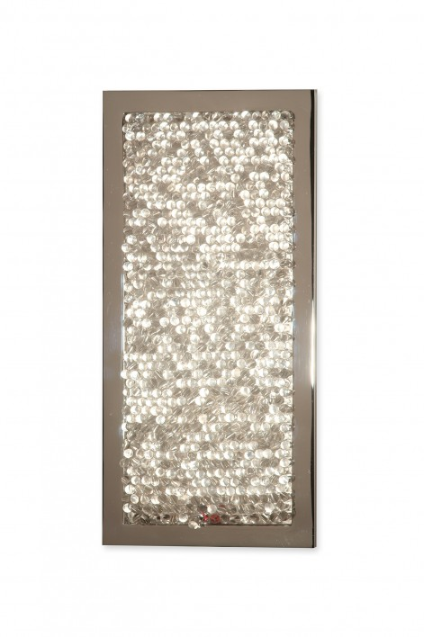 Chloe Bathroom Wall Light | Perspex with Nickel
