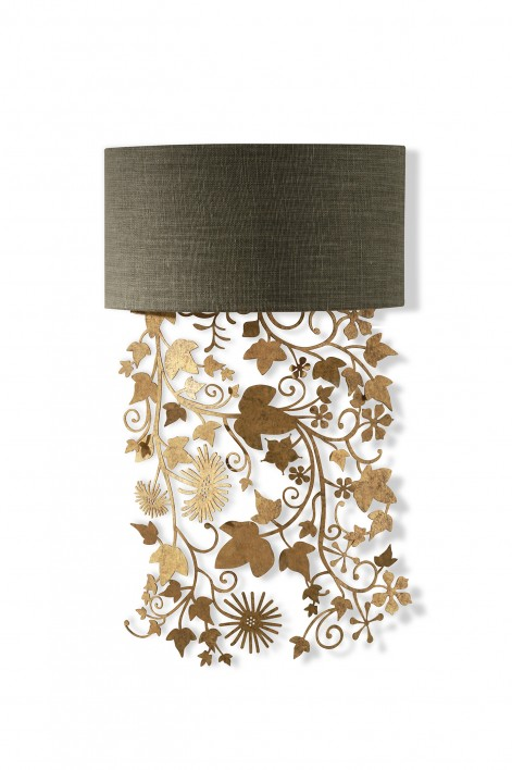 Ivy Shadow Wall Light | Forest Gold