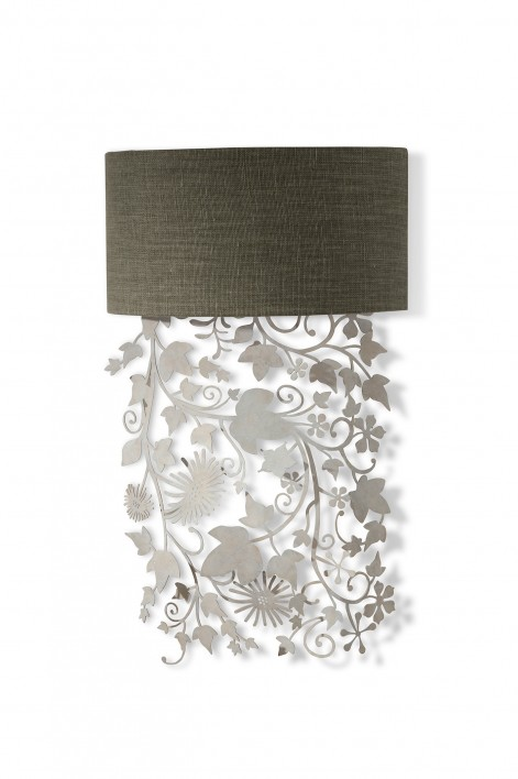 Ivy Shadow Wall Light | Forest White