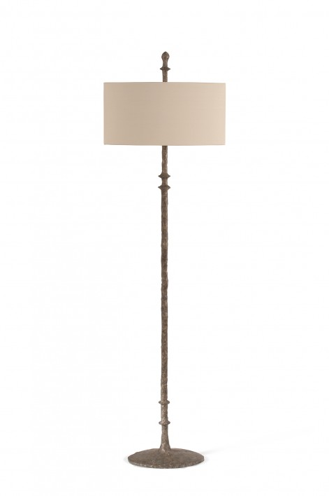 Olivier Floor Lamp | Burnt Silver