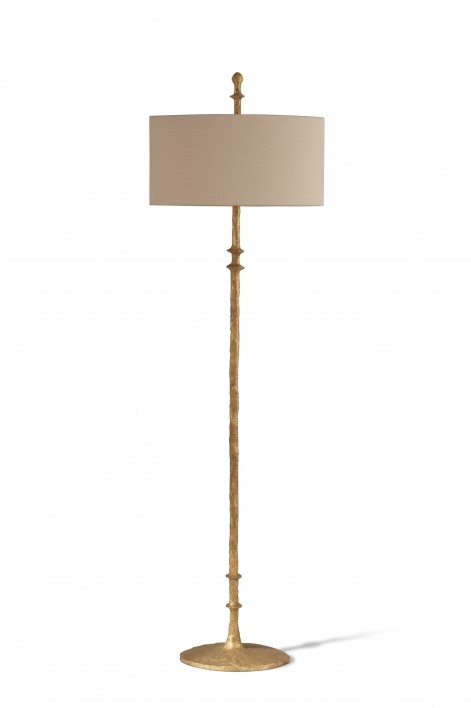 Olivier Floor Lamp | White Gold
