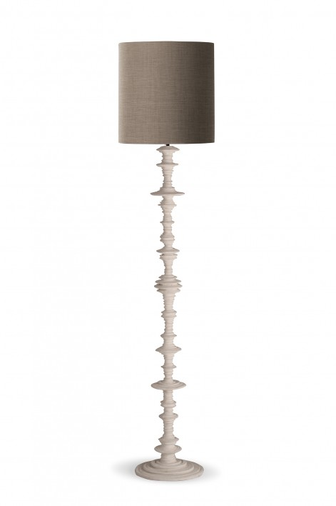 Spin Floor Lamp | Plaster White