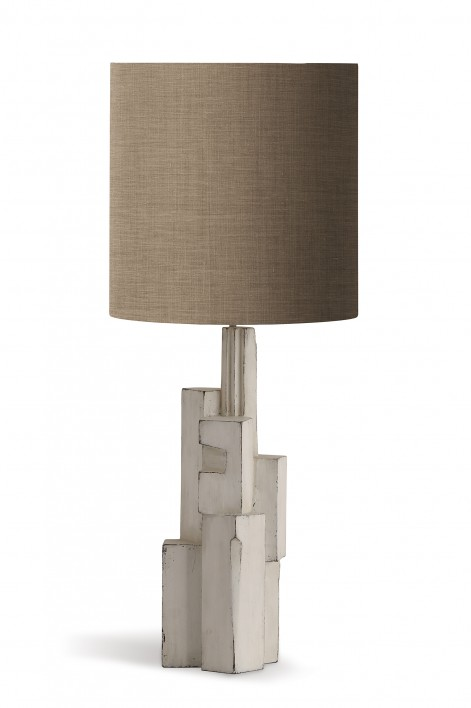 Metropolis Lamp | Scruffy White