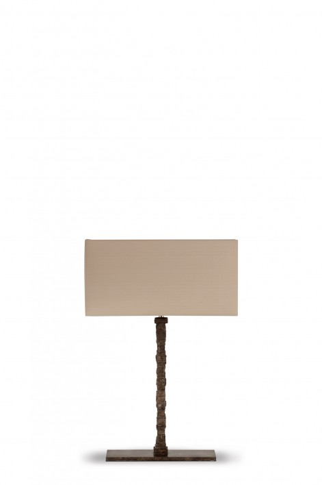 Small Static Lamp | Burnt Silver
