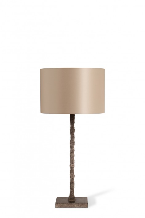 Large Static Lamp | Burnt Silver