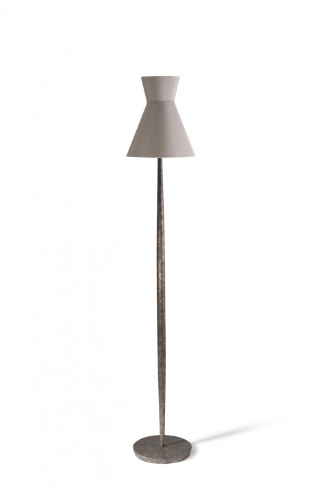 Daphne Floor Lamp | Burnt Silver