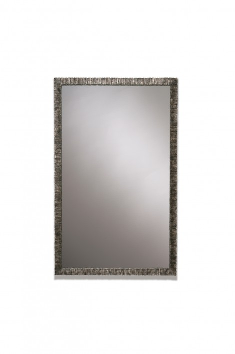 Small Rectangular Trevose Mirror | Burnt Silver