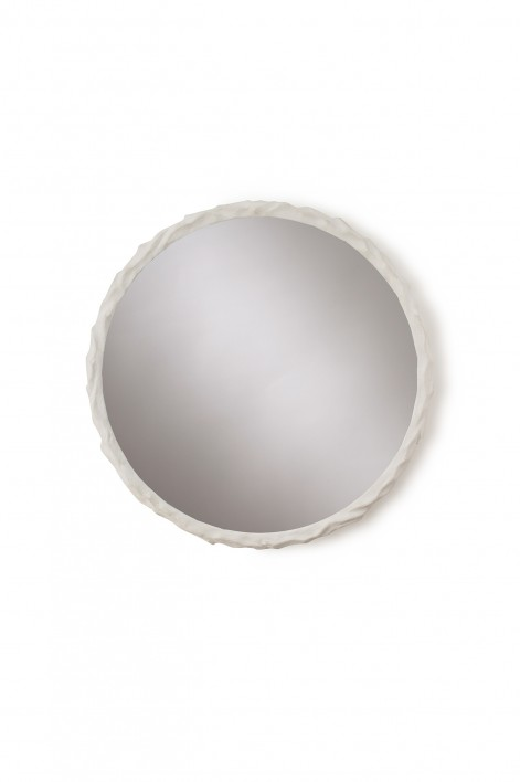 Twig Mirror | Plaster White