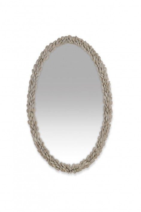 Mussel Shell Mirror | Aged Plaster