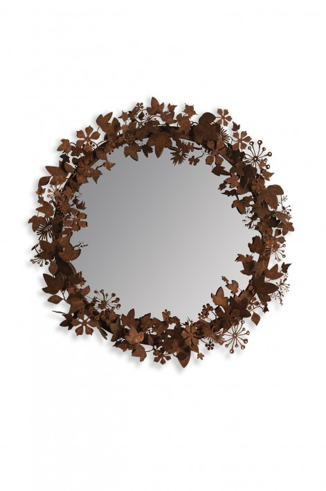 Ivy Shadow Mirror | Forest Rust
