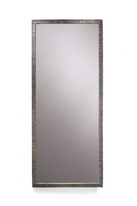 Large Rectangular Trevose Mirror | Burnt Silver
