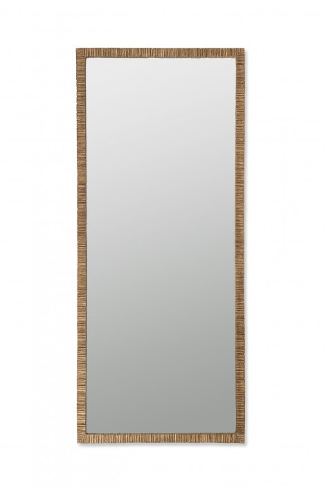 Large Rectangular Trevose Mirror | French Brass