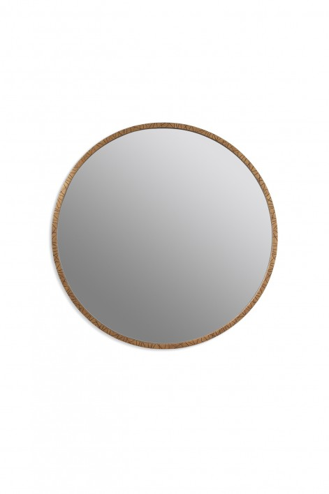Runes Mirror | French Brass