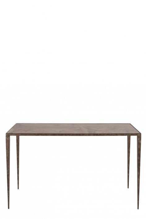 Large Salvatore Console Table | Burnt Silver with Grey Marble top
