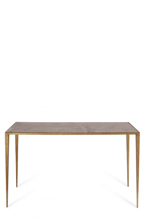 Large Salvatore Console Table | French Brass with Grey Marble top