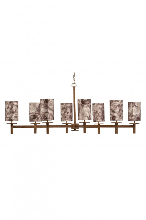 Neptune Chandelier | French Brass