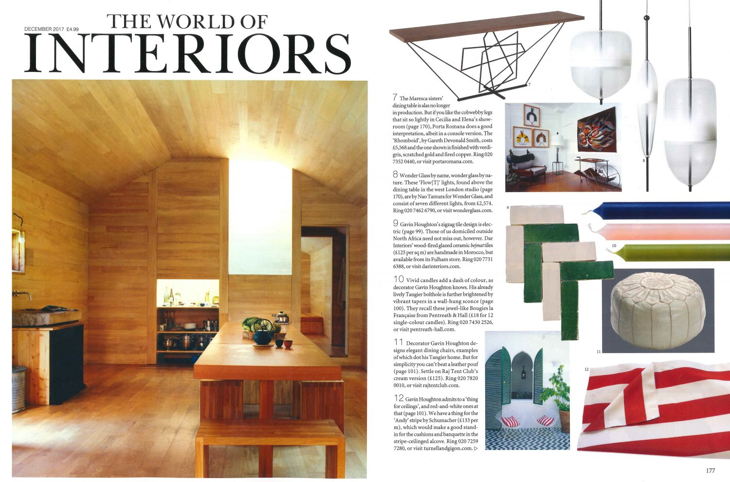 Boat International, July 2018. Featuring The Cologne Lamp
