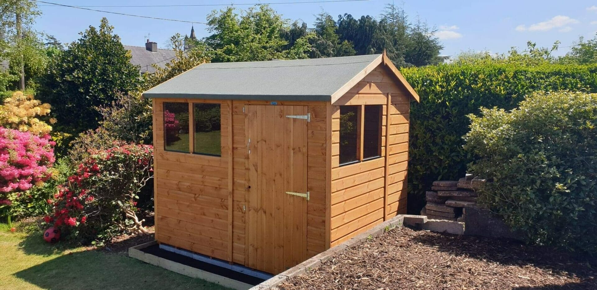 8x6 Power Apex Garden Shed