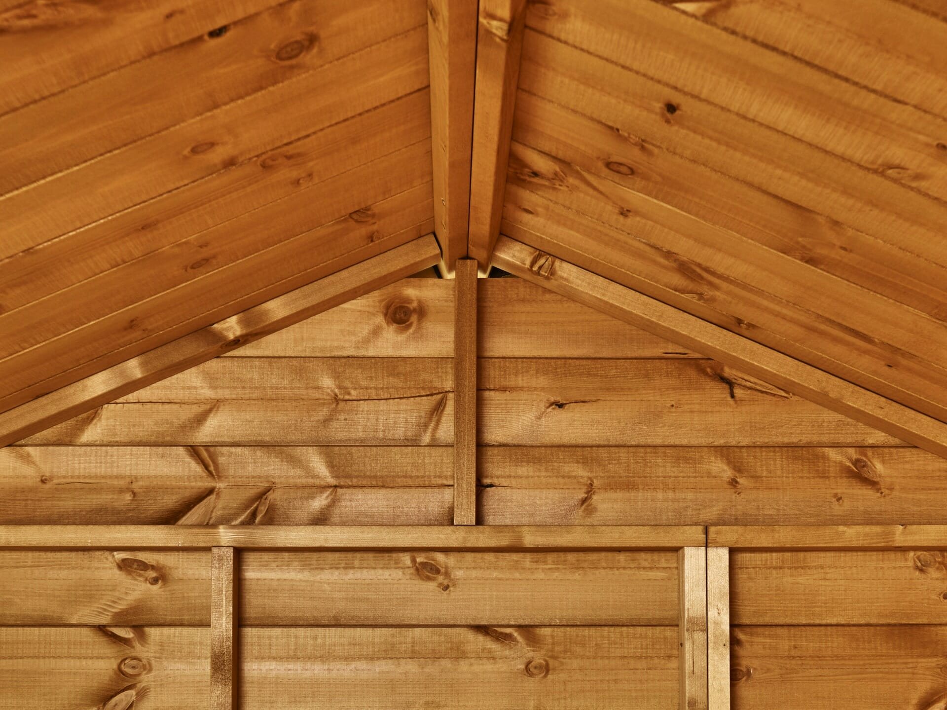 Shed roof imterior