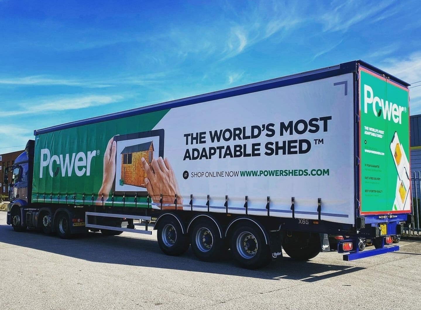 Power Sheds Delivery Livery Truck