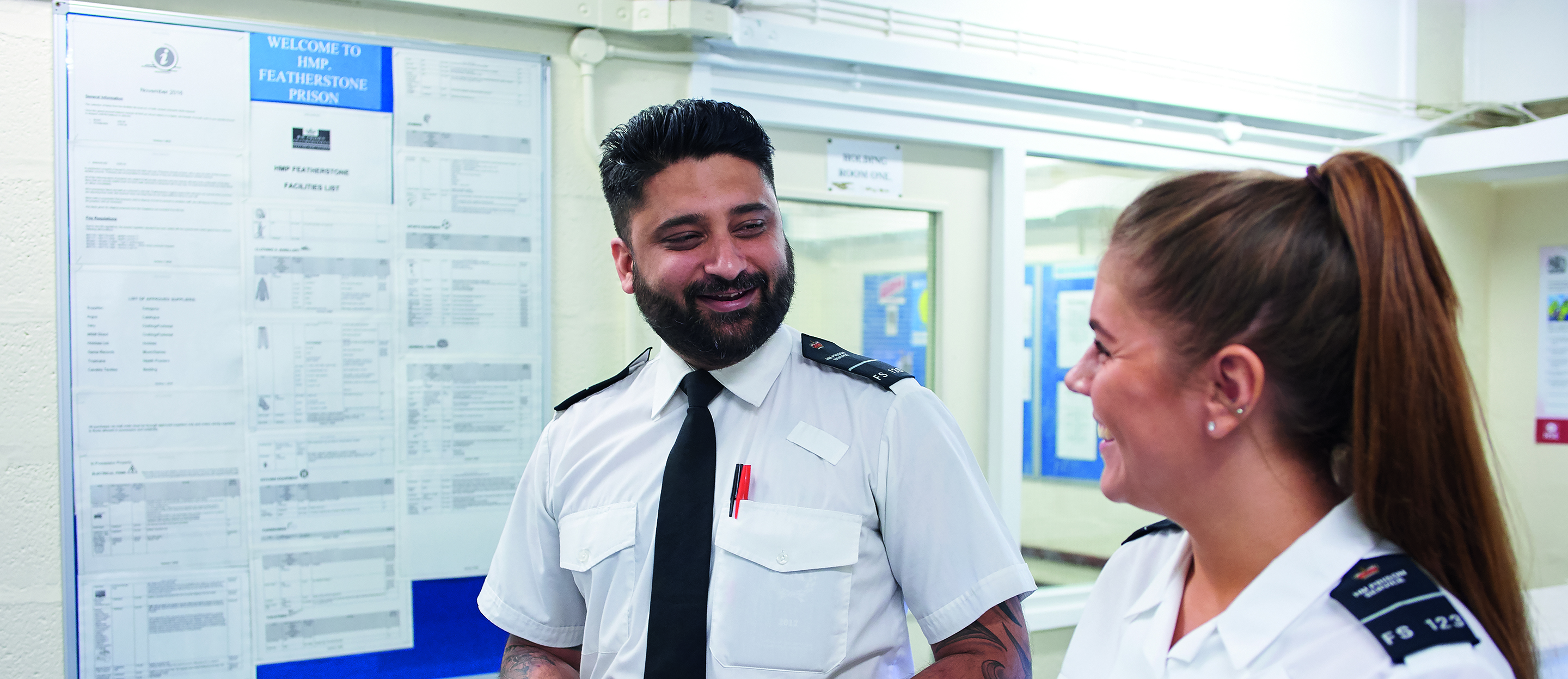 Prison officers talking about prison officer careers