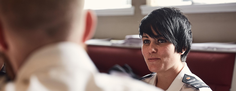 Prison officers on prison officer entry level training - POELT
