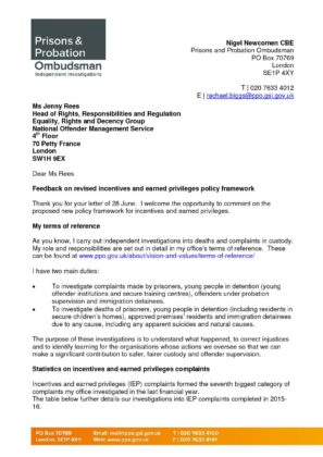 Responses to consultation | Document Types | Prisons & Probation
