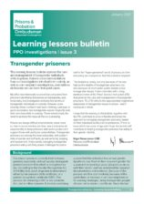 Prisons and Probation Ombudsman, learning lessons, transgender prisoners